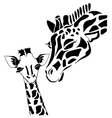 Cute giraffe family vector image