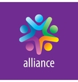 logo alliance vector image
