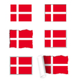 Denmark flag set vector image
