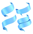 ribbons blue vector image vector image