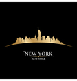 New York city skyline silhouette vector image
