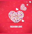 fashion and cosmetic make up and beauty icons and vector image