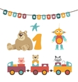 - baby toys garland vector image