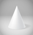 White cone vector image vector image