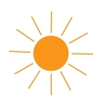 The sun sign on white background vector image