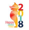 chinese new year 2018 zodiac dog happy new year vector image