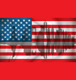 flag of usa with new york skyline vector image