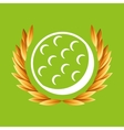 golf sport olympic blue badge vector image