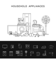Household appliance line vector image