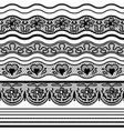 Lace seamless borders set of elements for design vector image