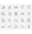 Lifestyle sketch icon set vector image