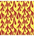 Yellow flames seamless pattern vector image