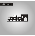 black and white style icon train Station vector image