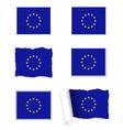 European Union flag set vector image vector image