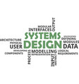 Word cloud - systems design vector image
