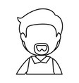 isolated office man vector image