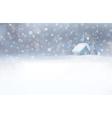 winter house snowfall vector image vector image