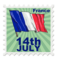 national day of France vector image