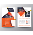 Abstract Triangle shape Poster Brochure Flyer vector image vector image