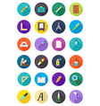 Color round design icons set vector image