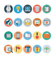 Flat Shopping and Commerce Icons 2 vector image