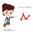 Business woman character skirt suit vector image
