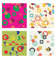 Colorful simple seamless pattern texture Abstract vector image