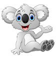 Cute koala cartoon waving hand vector image