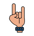 hand rock and roll symbol isolated vector image