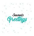 origami lettering of season s greetings vector image