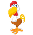 Rooster cartoon posing vector image