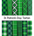 seamless patterns green st patricks day plaid vector image