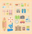 Summer tools model kits vector image