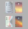 template design layout brochure geometric vector image