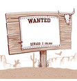 wanted paper on wood board for textwestern vector image