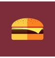 flat fast food vector image