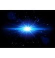 Blue Lens Flare glowing light effect vector image