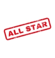 All Star Text Rubber Stamp vector image
