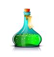 Bottle of green elixir vector image vector image