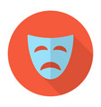 Tragedy mask flat icon vector image