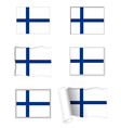 Finland flag set vector image vector image
