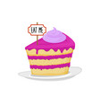 sweet cake dessert food alice in wonderland vector image