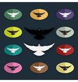 group of bird pigeon vector image