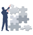 jigsaw puzzle pieces background vector image vector image