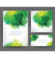 Set of Banners with Green Watercolor Splash vector image