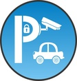 Symbol of guarded parking vector image