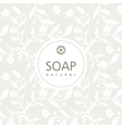 Background for natural handmade soap vector image