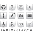 car set icons auto service square vector image