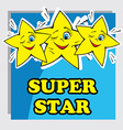 Baby Card with Super Star vector image