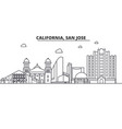California san jose architecture line skyline vector image